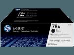 HP 78A Black Mono Toner Cartridge Twin Pack CE278AD