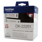 GENUINE Brother DK-22251 Black on Red 62mm Label Continuous 15.24m Roll