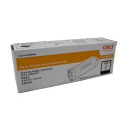 GENUINE Oki C833n Black Toner Cartridge 46443108