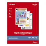 Canon A3 High Resolution Inkjet Paper 20 pack 106gsm HR101