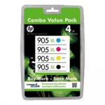 HP 905XL High Yield Ink Tank Cartridge Value 4 Pack 3GN11A